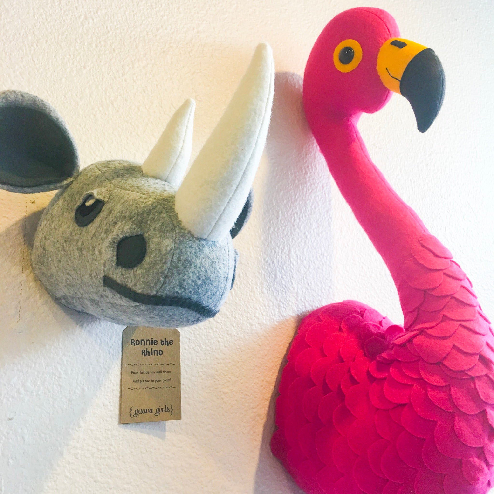 PLUSH ANIMAL HEADS