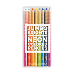 JUMBO BRIGHTS NEON COLORED PENCILS