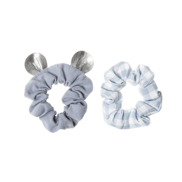 LITTLE MOUSE SCRUNCHIE SET, BLUE