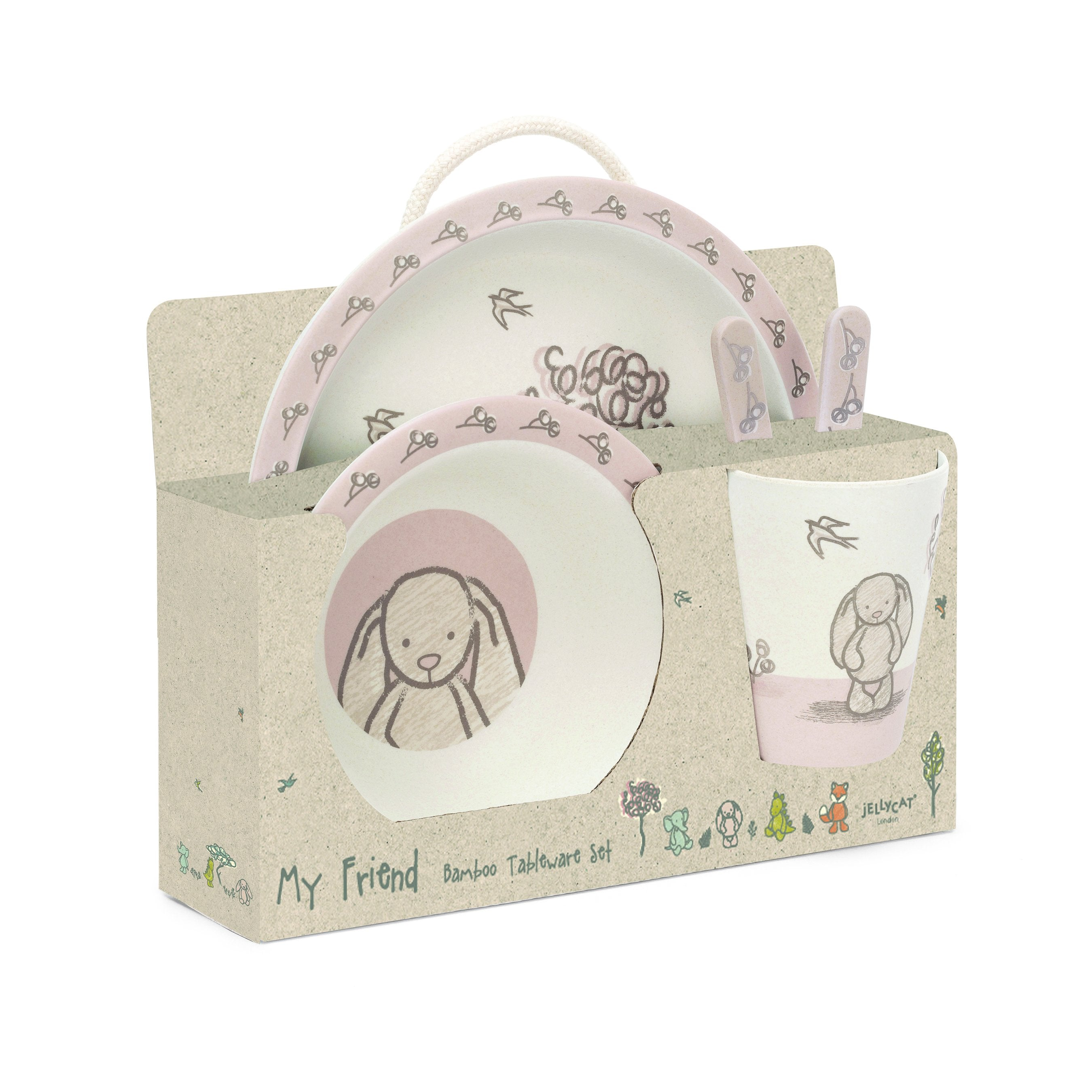 MY FRIEND BUNNY BAMBOO TABLEWARE SET