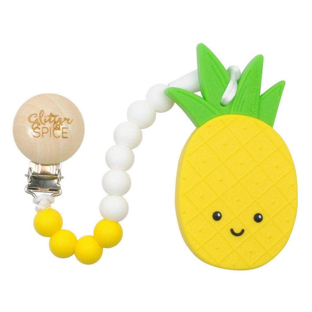 PINEAPPLE TEETHER WITH CLIP