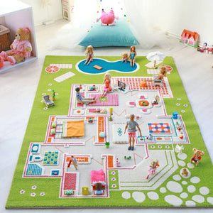PLAY HOUSE GREEN RUG