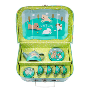 PUPPY DOG PLAYTIME TIN TEA SET