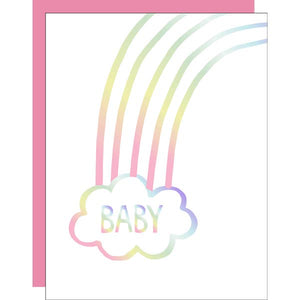 RAINBOW BABY, WELCOME BABY CARD