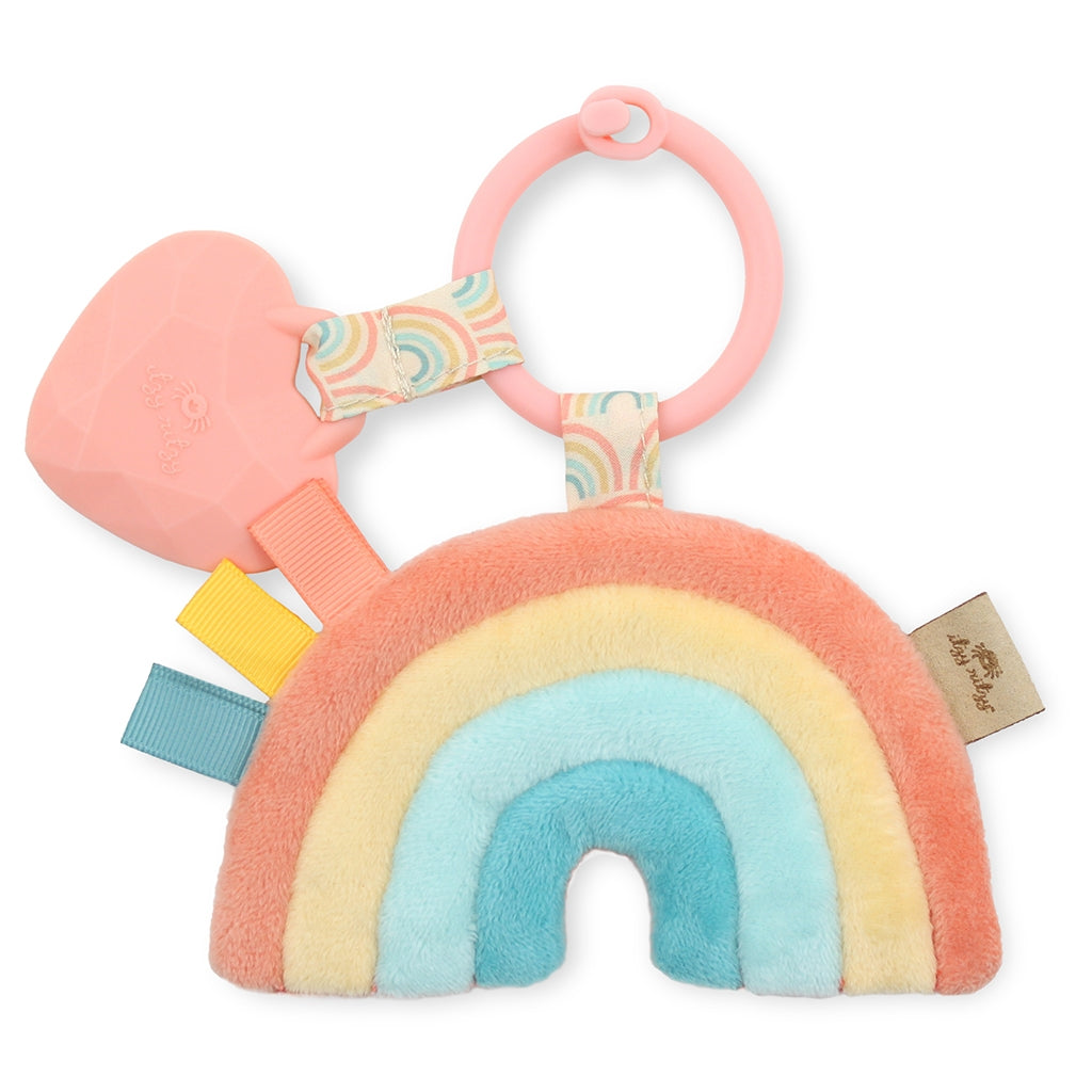RAINBOW ITZY PAL PLUSH + TEETHER