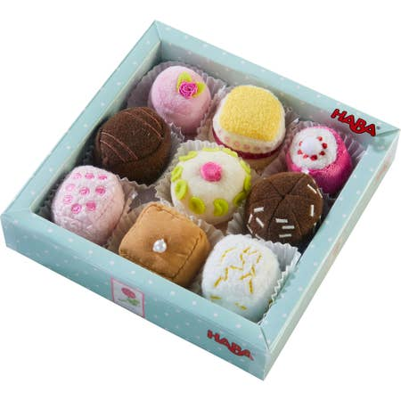 SOFT PETIT FOURS SET OF 9 PLUSH DESSERTS