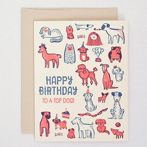 TOP DOG, BIRTHDAY CARD