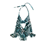 TROPICAL JUNGLE PEEK-A-BOO SWIMSUIT
