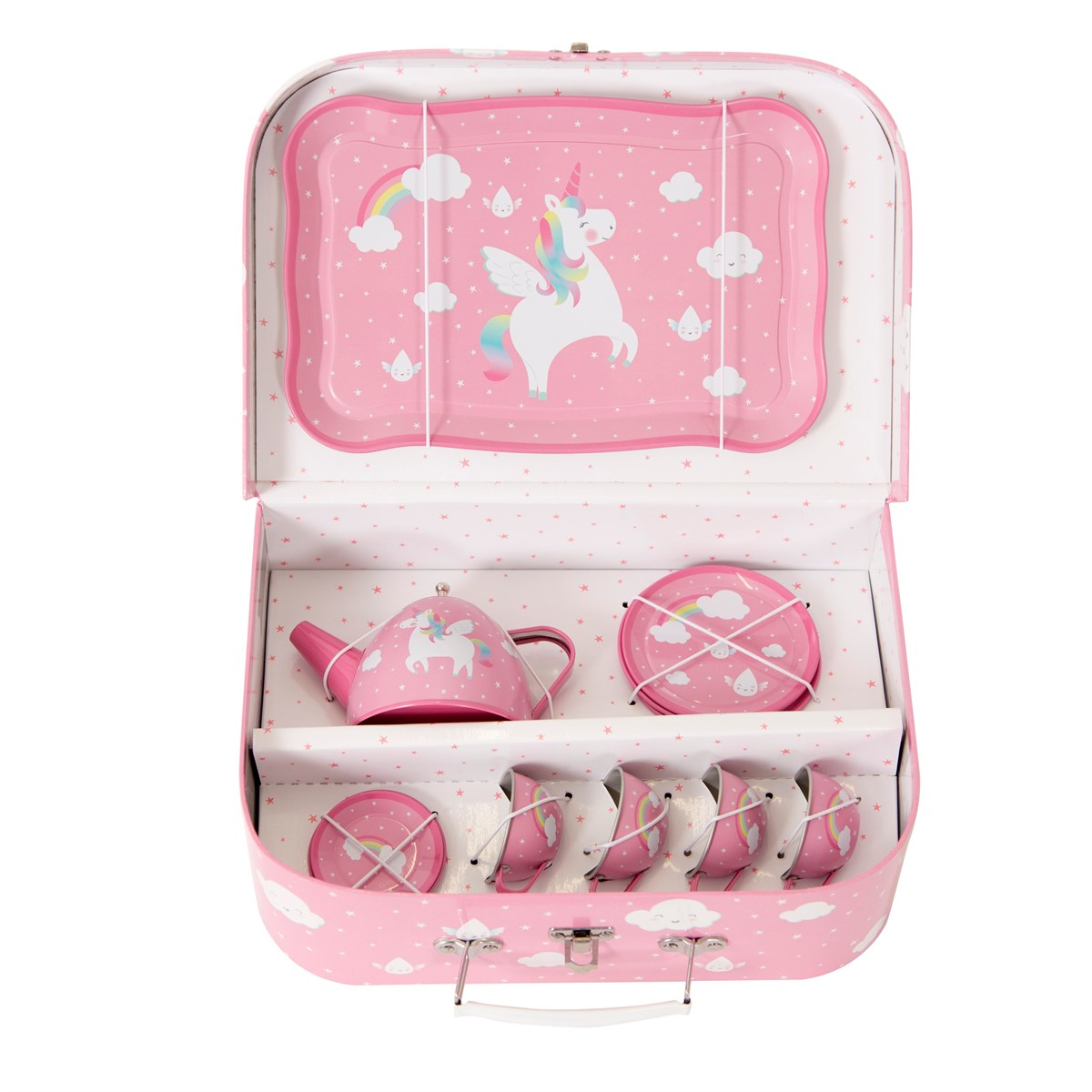 RAINBOW UNICORN TIN TEA SET