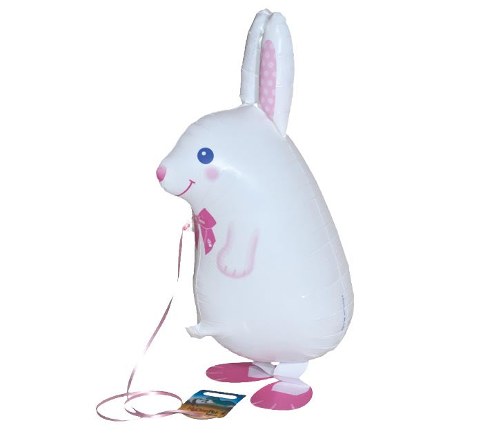 "21"" WHITE RABBIT PET BALLOON"