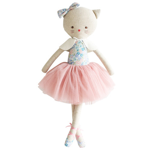 ADELEINE KITTY CAT DOLL, LIBERTY BLUE