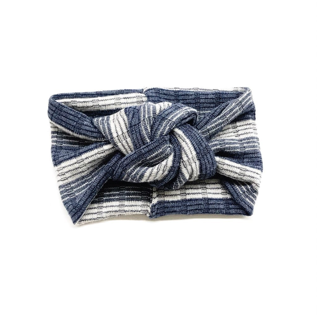 Blue Ombre Stripe Turban