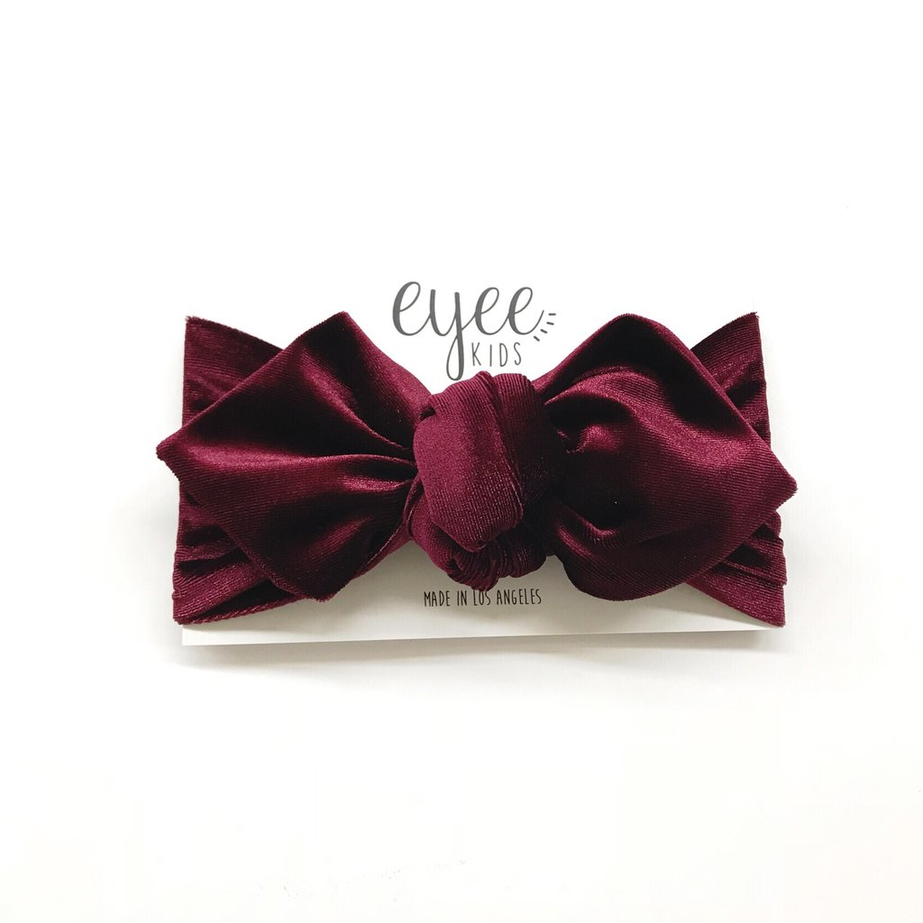 Bordeaux Velvet Top Knot