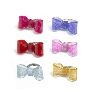 GLITTER BOW RING