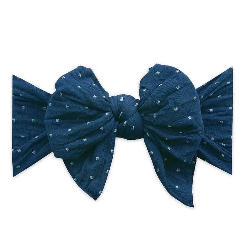 DANG ENORMOUS BOW, Navy Dot