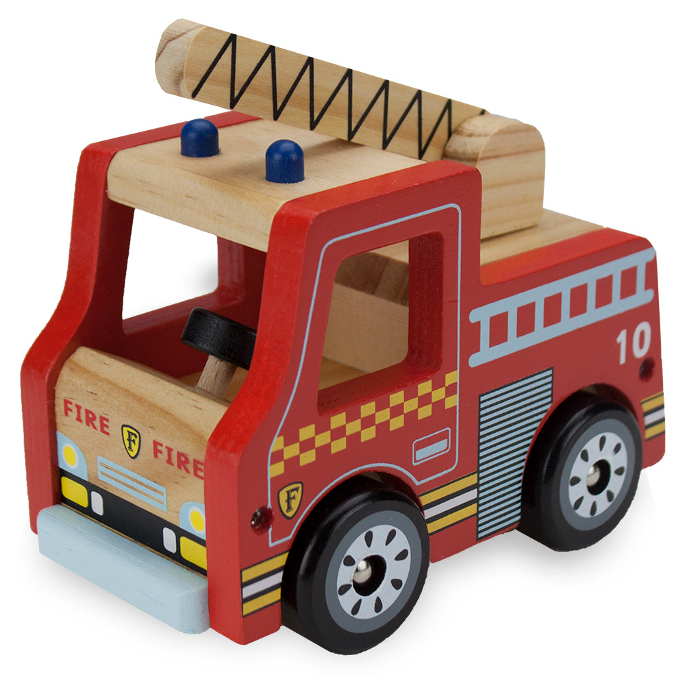 WOODEN WHEELS FIRE ENGINE