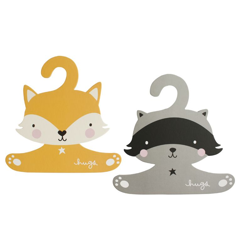 HANGER SET, Fox and Raccoon