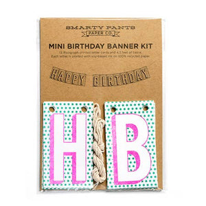 MINI BANNER KIT, HAPPY BIRTHDAY WITH STARS