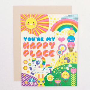 HAPPY PLACE, JUST BECAUSE CARD