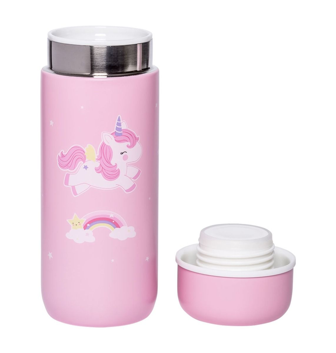 INSULATED STAINLESS STEEL UNICORN DRINK BOTTLE