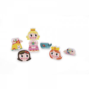 PRINCESSES FUNNY MAGNET SET