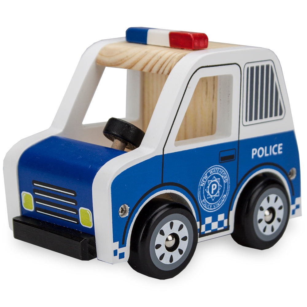 WOODEN WHEELS POLICE CRUISER