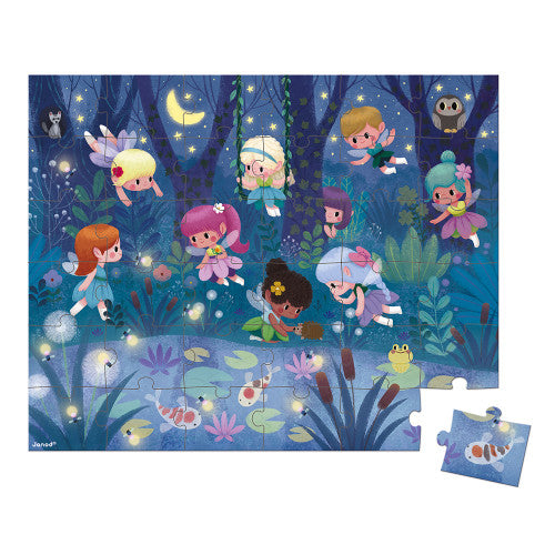 PUZZLE, FAIRIES & WATERLILIES