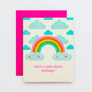 RAINBOW BIRTHDAY, BIRTHDAY CARD