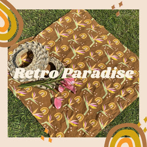 RETRO PARADISE SWADDLE