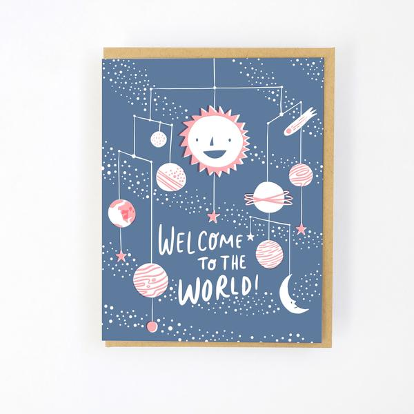 SOLAR SYSTEM, WELCOME BABY CARD