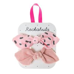 Sprinkle Bow Clips Pink