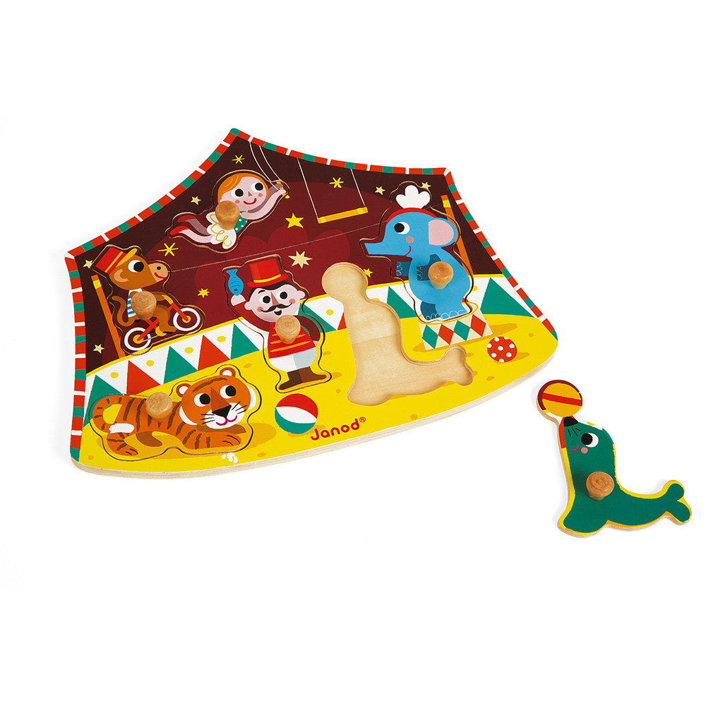 STARS OF THE CIRCUS PEG PUZZLE