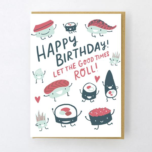 SUSHI ROLL, BIRTHDAY CARD