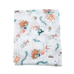 Mermaid Oh-So-Soft Muslin Single Swaddle Blanket