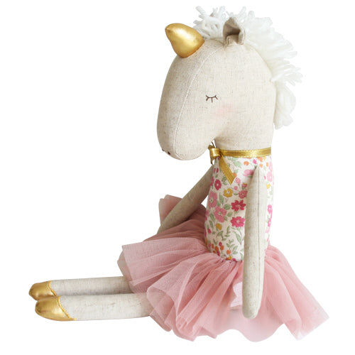 YVETTE UNICORN DOLL, ROSE GARDEN