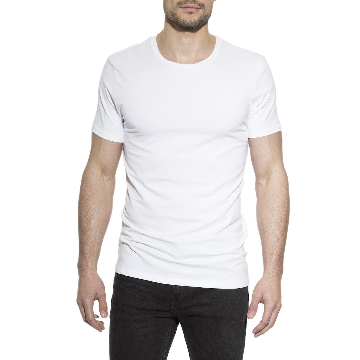 Men's Crew Neck T-Shirt 2-Pack White
