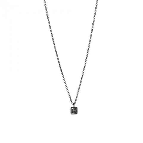Raw Cut Diamond Square Necklace