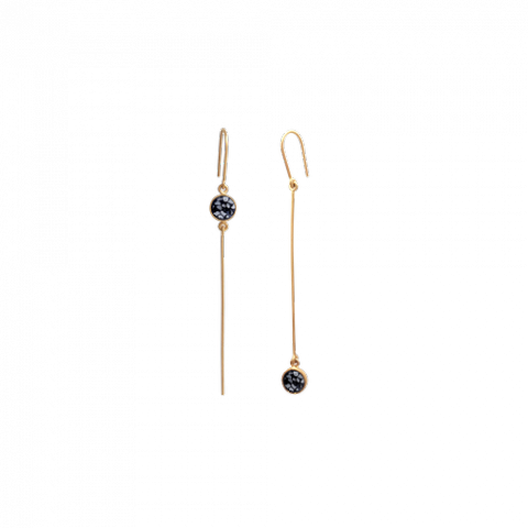 Raw Cut Diamond Stick Earrings