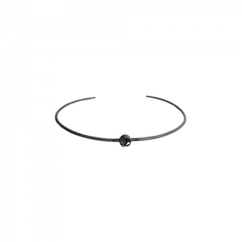 Raw Cut Diamond Thin Bangle