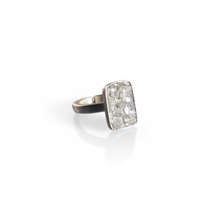Raw Cut Diamond Plate Ring
