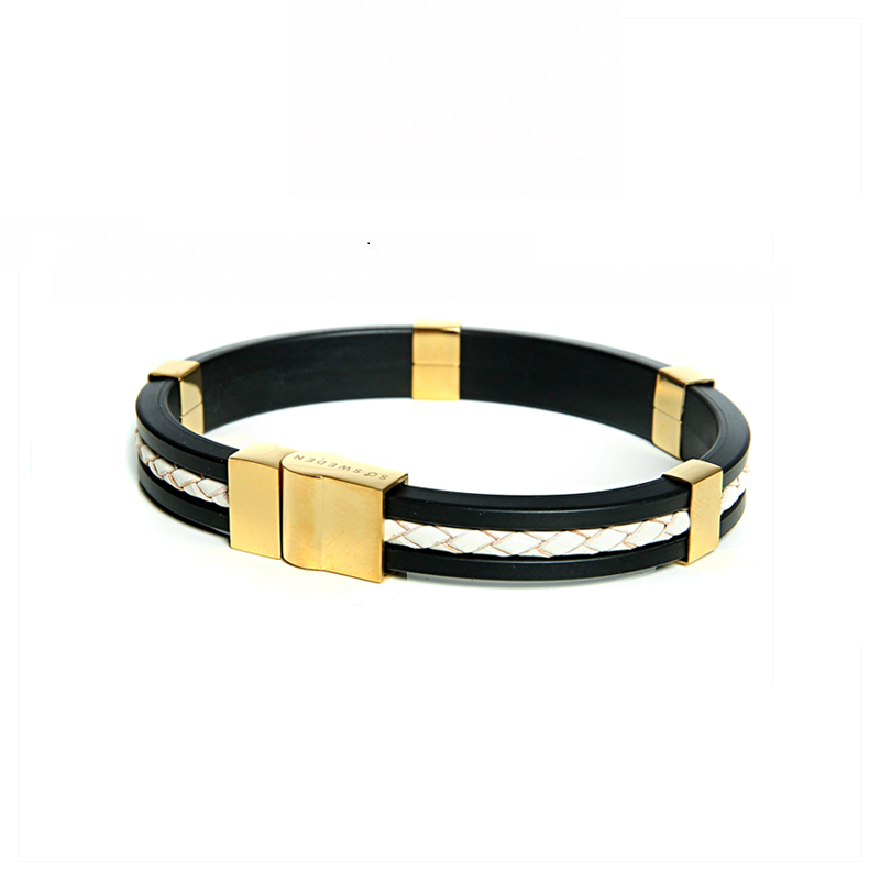 So Sweden Bracelet | White & gold