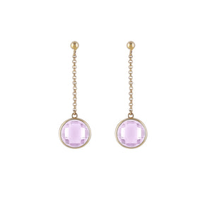 Hanging Pink Earrings