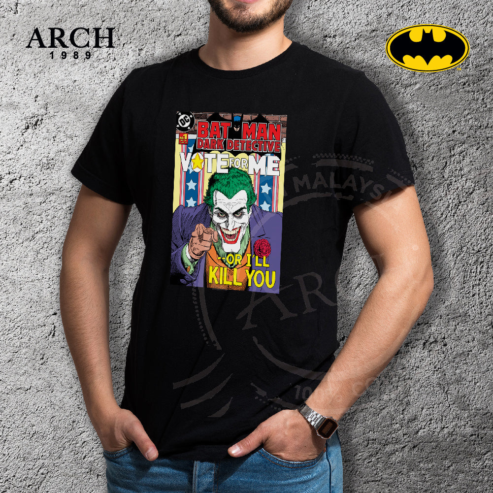 Original DC Joker Vote for Joker Unisex Black T-Shirt by ARCH