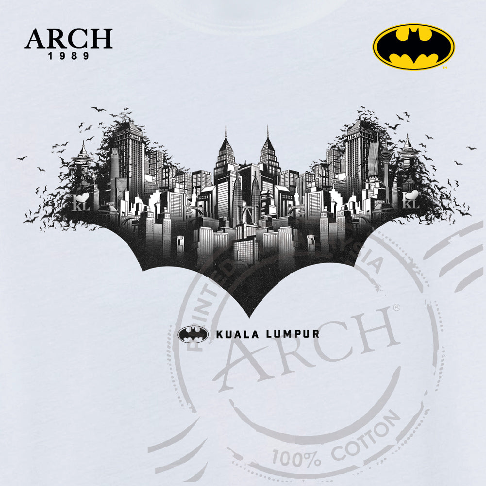 DC Batman City Logo T-Shirt White