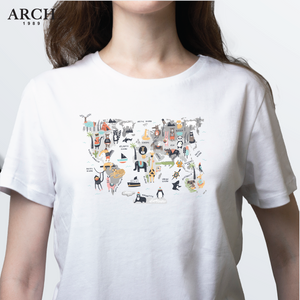 ARCH Animal Map T Shirt