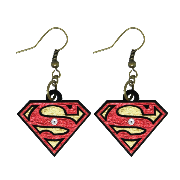 Earrings - Logo Superman