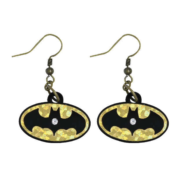 Earrings - Logo Batman