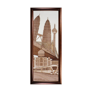 Federal Territories: Kuala Lumpur & Putrajaya Malaysia city design art piece home office decoration wood veneer wedding business corporate gift