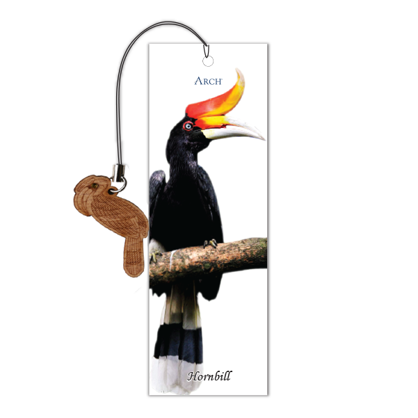 Wood Veneer Bookmarks  - Hornbill - Charm