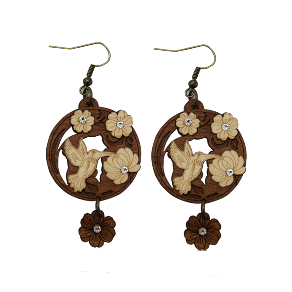 Fashion Accessories: Earrings  - Hummingbird